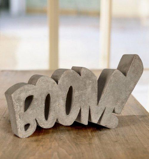Boom! Concrete Sculpture by HandMadeFont