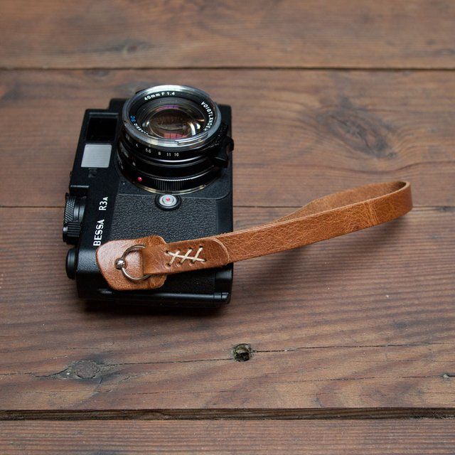 Leather Camera Strap by Wood & Faulk