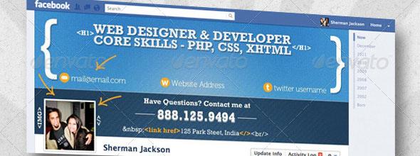 Facebook Timeline Cover – Web Developer & Designer  Source: http://designmodo.com/facebook-timeline-covers/#ixzz2XwDMPDie