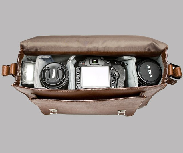 The Brooklyn Leather Camera Satchel by ONA