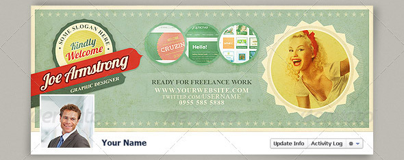 5 retro facebook timeline covers Top 40 Premium Facebook Timeline Cover Photo Templates