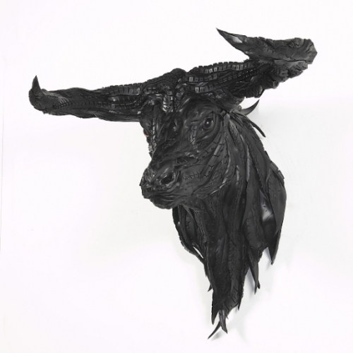 Ferocious Animal Sculptures made from Tires