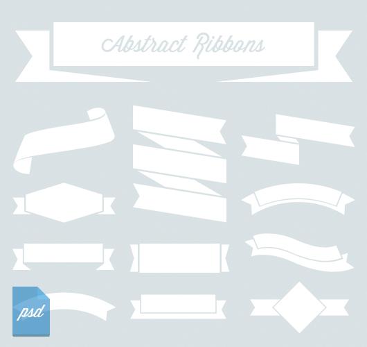 Abstract Ribbons (Psd & Vector)