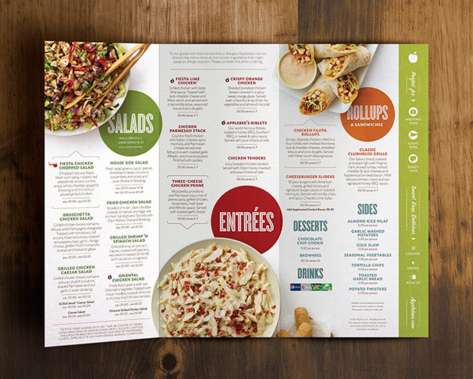 applebees photo 031 35 Beautiful Restaurant Menu Designs