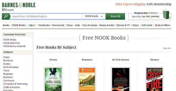 barnesandnoble How and Where to Get Free eBooks