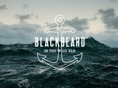 Blackbeard in the wild sea by Téo Brito
