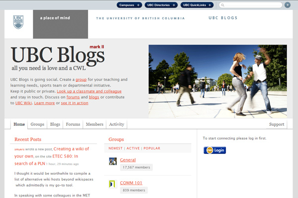 blogs ubc ca 10 Examples of BuddyPress Based Websites