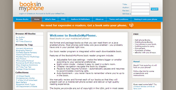 booksinmyphone How and Where to Get Free eBooks