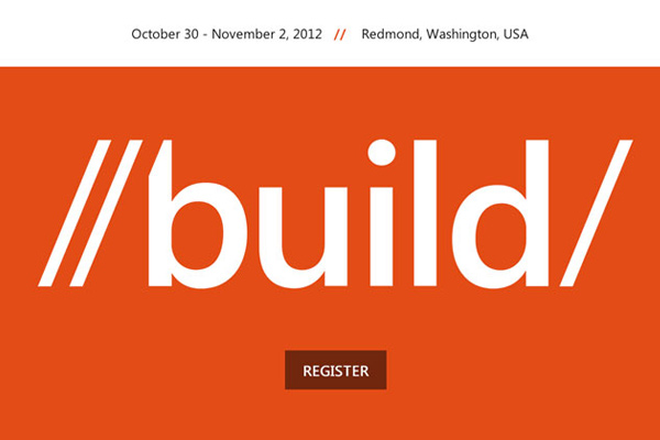 build 2012 25 Well Designed Event Websites
