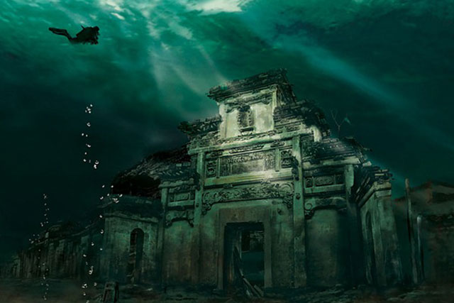Underwater City, Shicheng, China. Photo by Chinese National Geography.