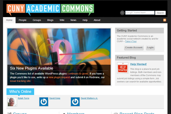commons gc cuny edu 10 Examples of BuddyPress Based Websites