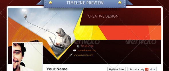 creative design Top 40 Premium Facebook Timeline Cover Photo Templates