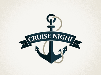 cruisenightupdated1 35 Anchor Based Logo Design Examples