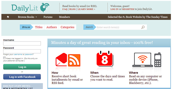 dailylit How and Where to Get Free eBooks