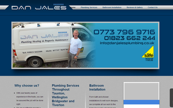 danjalesplumbing Case Study: Why are Tradesman Websites so Bad?