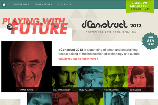dconstruct 2012 25 Well Designed Event Websites