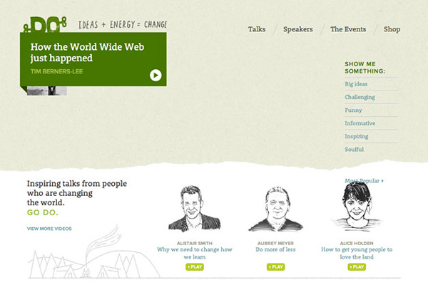do lectures 25 Well Designed Event Websites
