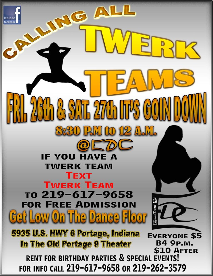 There's a Facebook group for a sketchy dance club that makes great flyers like this