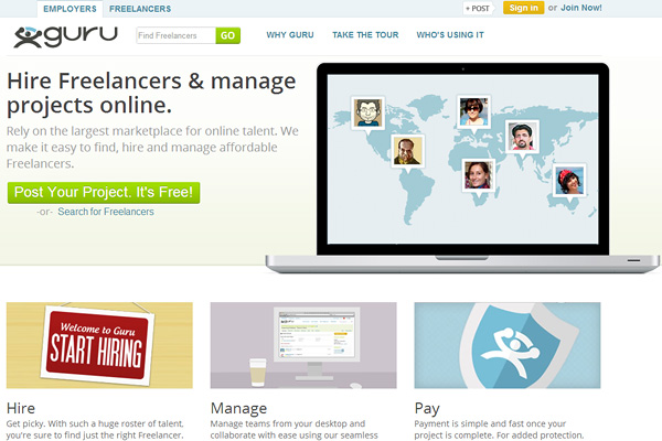 guru Top Outsourcing Websites for Entrepreneurs
