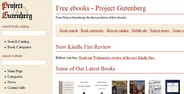 gutenberg How and Where to Get Free eBooks