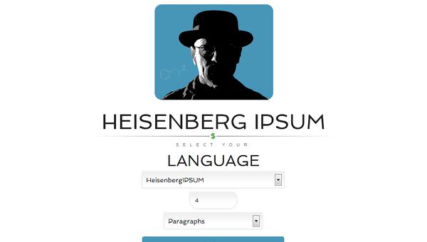 heisenberg-ipsum