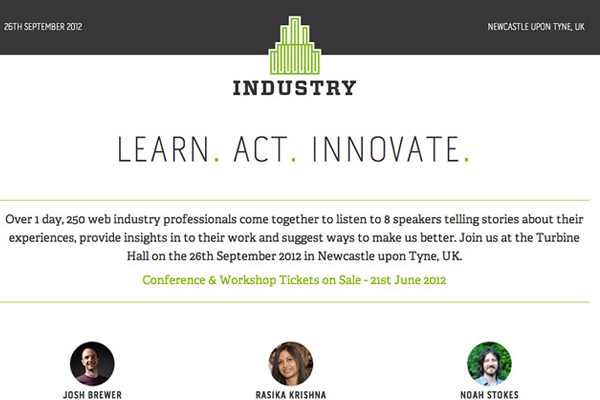 industry conf 25 Well Designed Event Websites