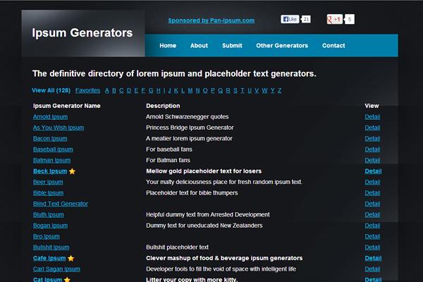 ipsum-generators