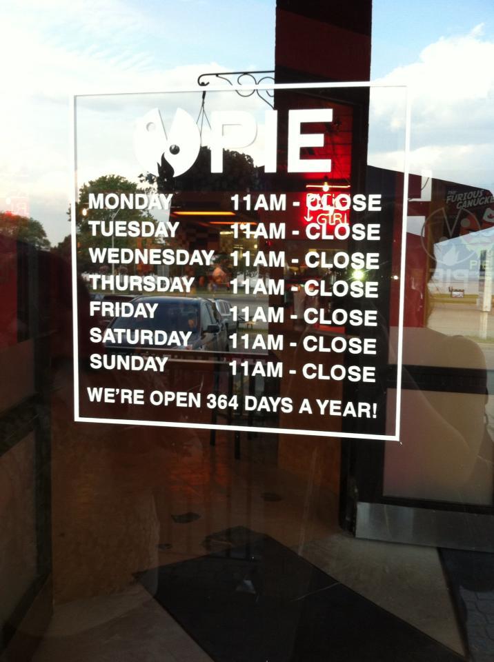 Open till when?!