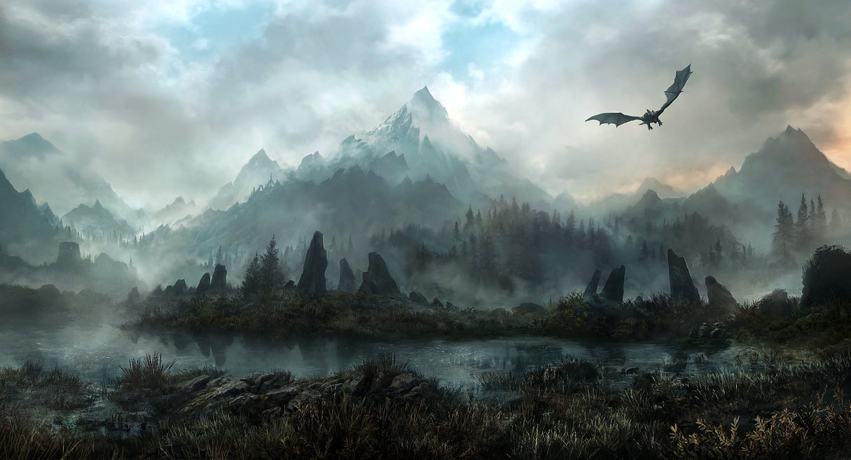 land of skyrim 20 Emotionally Impacting Illustrations by Jonas De Ro