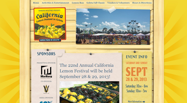lemon festival 25 Well Designed Event Websites