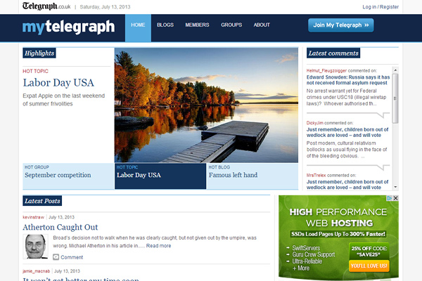 my telegraph 10 Examples of BuddyPress Based Websites