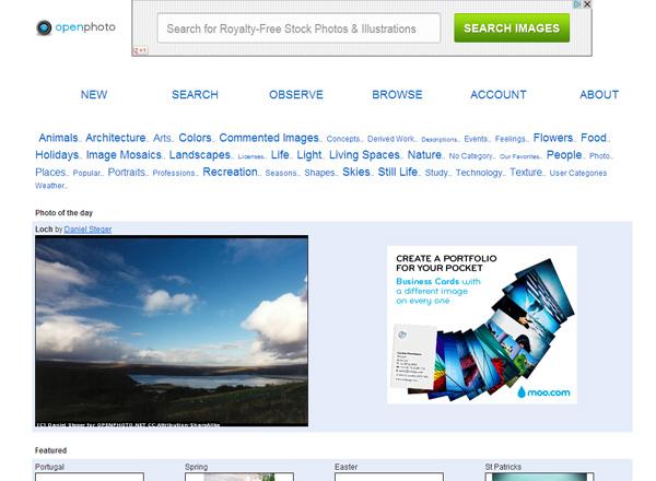 openphoto 25 Free Stock Photo Websites