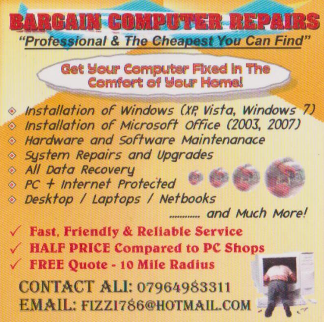 computer repairs flyer