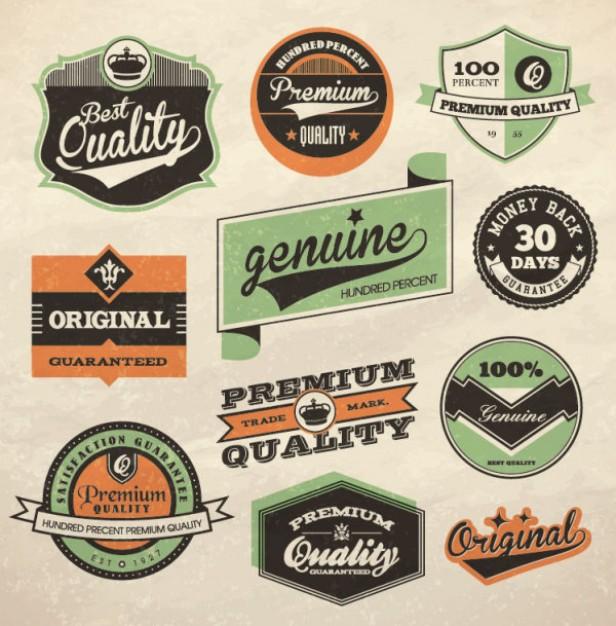 retro label design vector