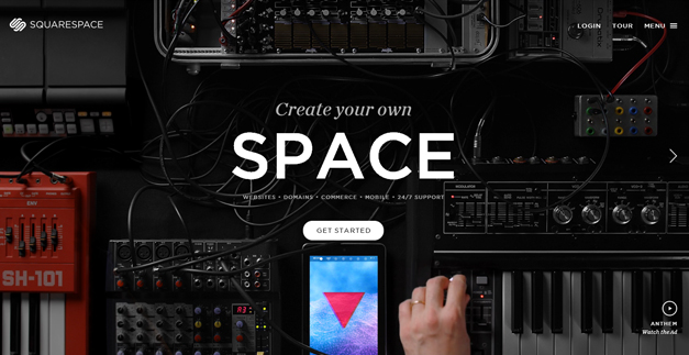 squarespace 30 Outstanding Full screen Websites