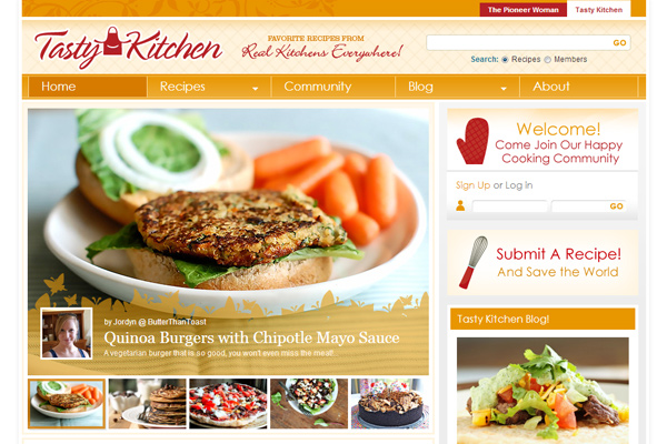 tastykitchen 10 Examples of BuddyPress Based Websites