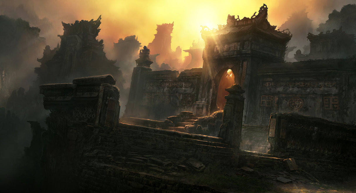 temple ruins 20 Emotionally Impacting Illustrations by Jonas De Ro