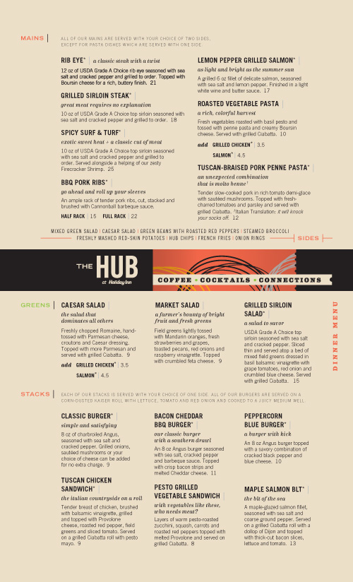 thehub pdf 011 35 Beautiful Restaurant Menu Designs