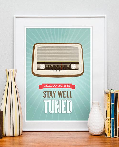 Retro vintage radio poster