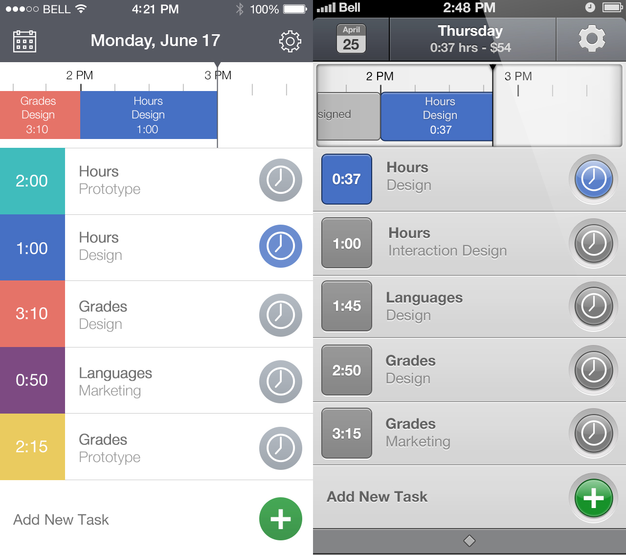 Hours iOS 7 Redesign