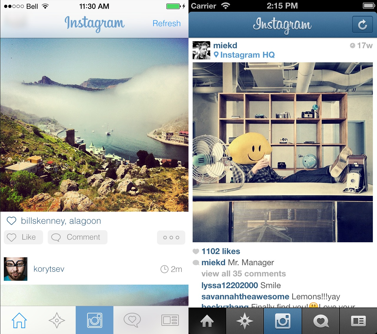 Unofficial Instagram iOS 7 Redesign