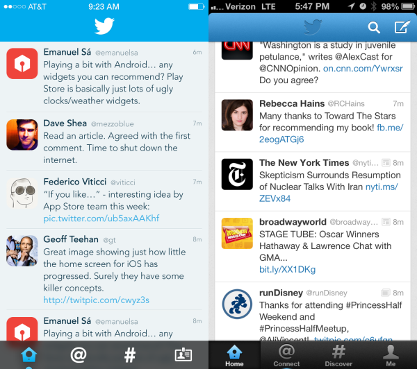 Unofficial Twitter for iOS 7
