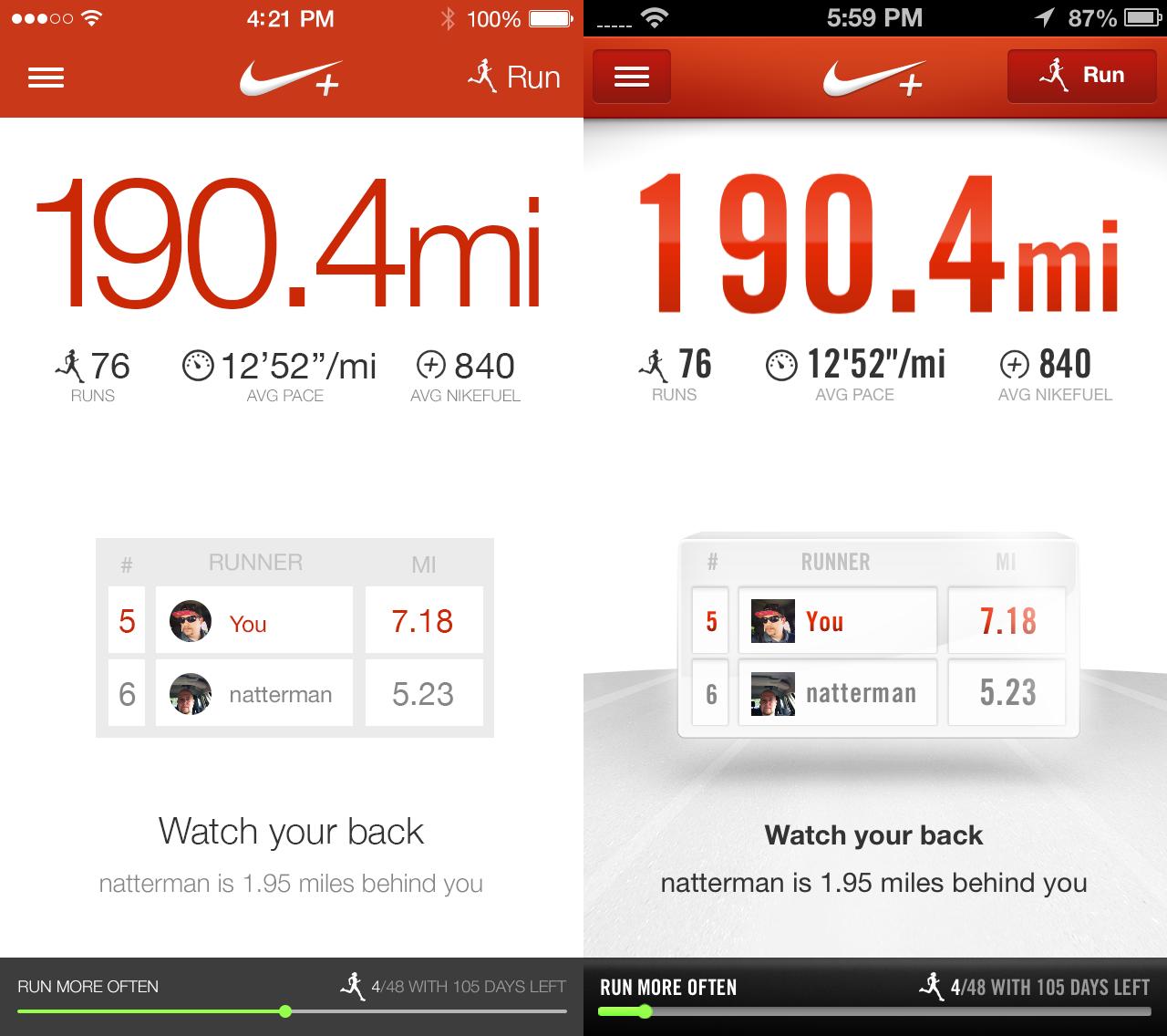 Nike iOS7 Redesign