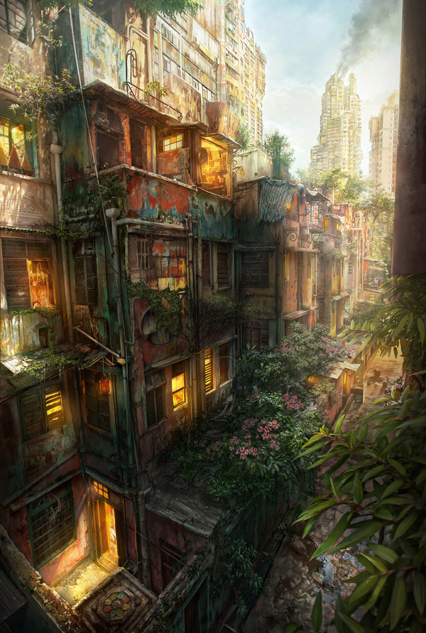 urban jungle 20 Emotionally Impacting Illustrations by Jonas De Ro