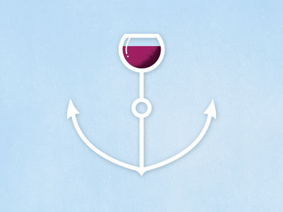 wineboat1 35 Anchor Based Logo Design Examples