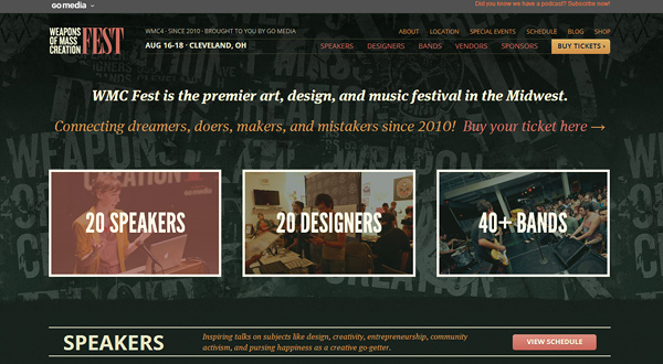 wmc fest 25 Well Designed Event Websites