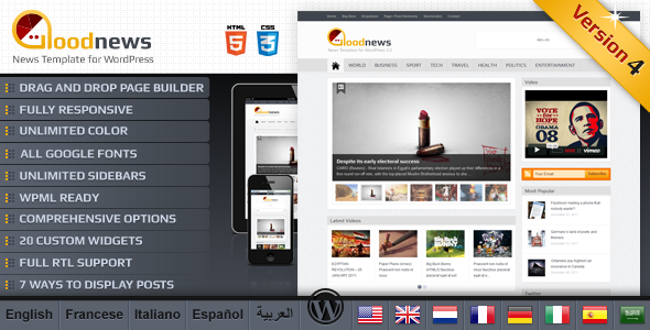01 goodnews   large preview   thumbnail   large preview1 20 WordPress Review Magazine Themes