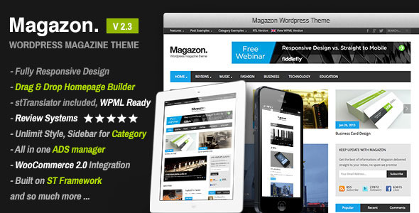 01 preview1   large preview11 20 WordPress Review Magazine Themes