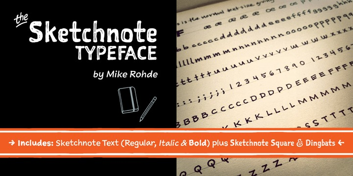 The Sketchnote Typeface