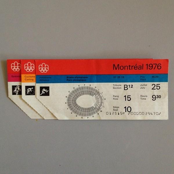 76 Montreal Olympics tickets
